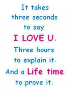 It takes three seconds to say I Love U.