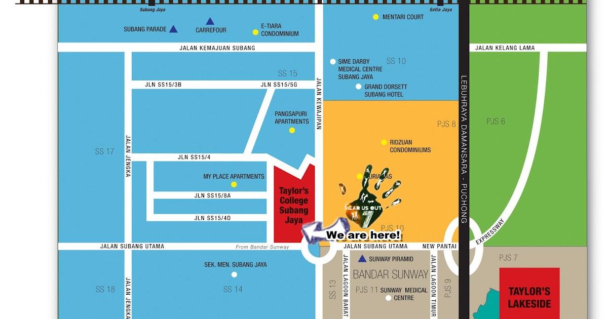 Hear Us Out 7 HUO7 Map To Taylors College Subang Jaya