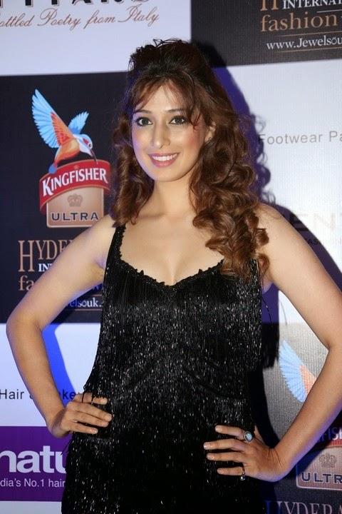 Laxmi Raai In Black Hot Dress New Stills
