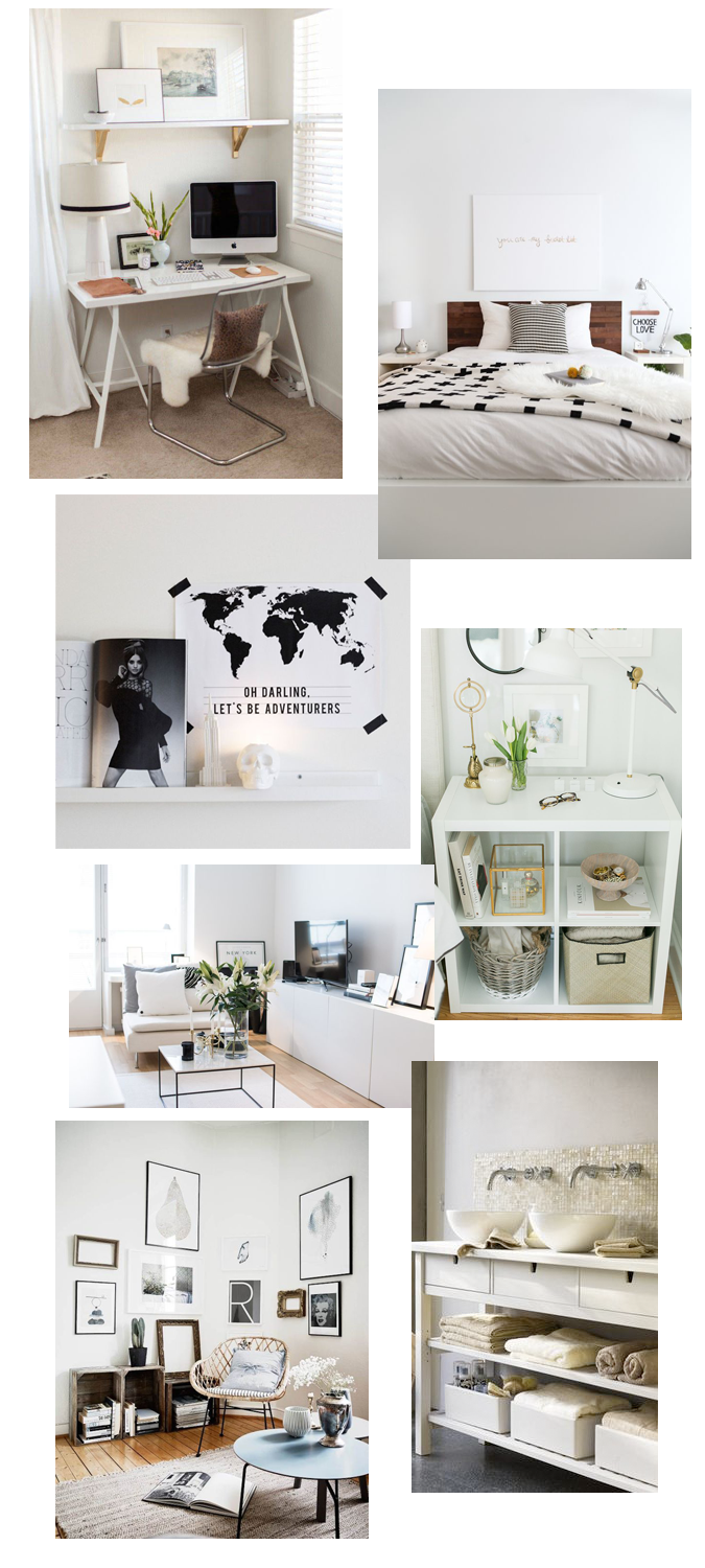 deco, inspiration, white spaces, bedroom, desk, minimal