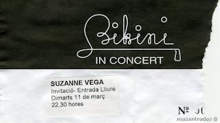 entrada de concierto de suzanne vega