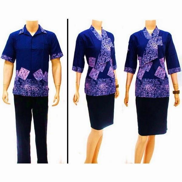 Sarimbit Batik Cap   Model Blus Pramugari