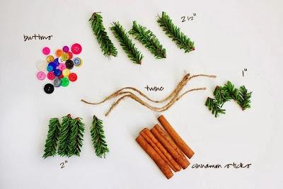 Χριστουγεννιάτικα στολίδια με μυρωδιές από κανέλα-υλικά