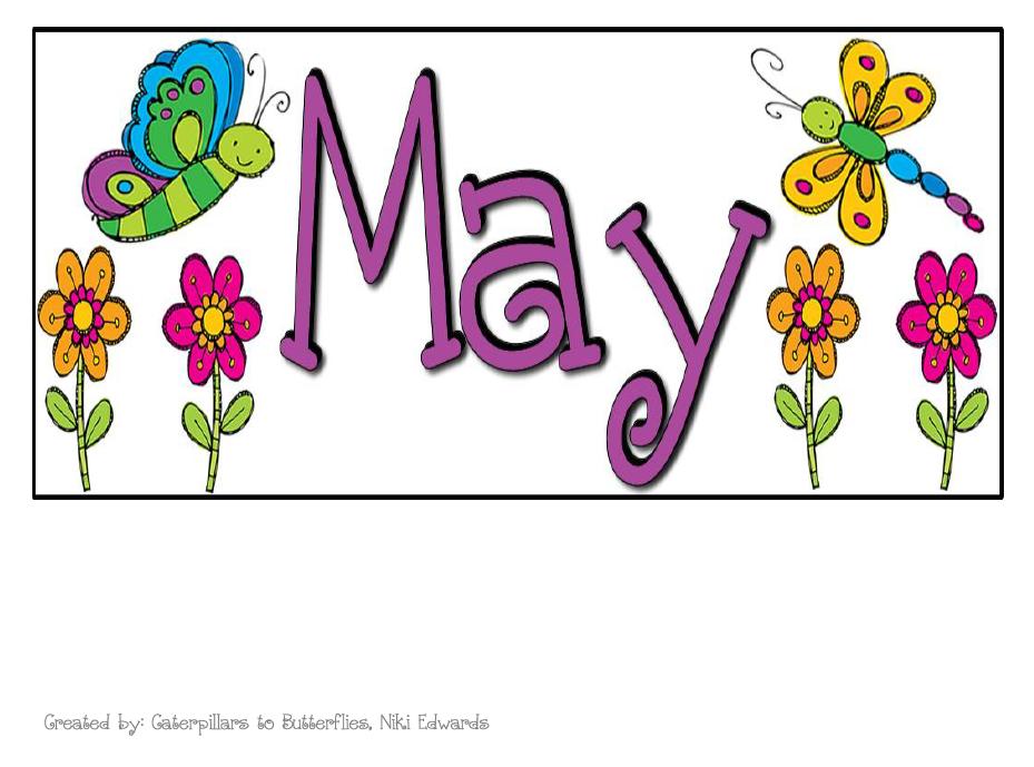 May Calendar Header : Caterpillars to butterflies k readiness