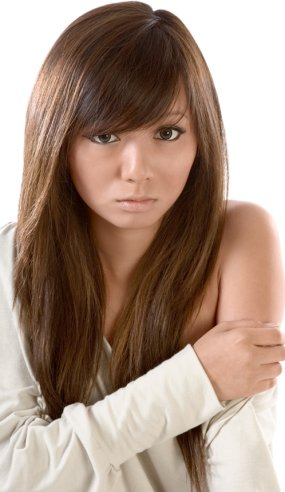 straight medium hairstyles. house a Korean long hairstyles