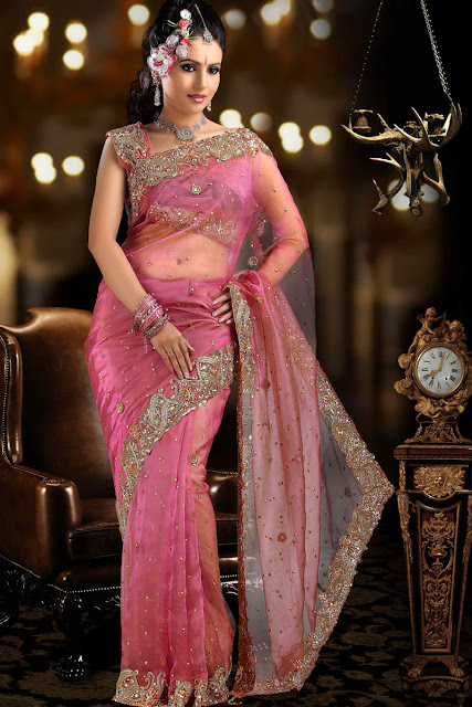Beautiful-Partywear-saree-designs