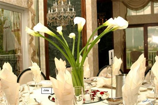 Bouquet Bridal Calla Lily Centerpieces