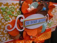 конверт,скрап,лента,оранжевый,бумага,высечки,рамка,надпись,цветы,тычинки