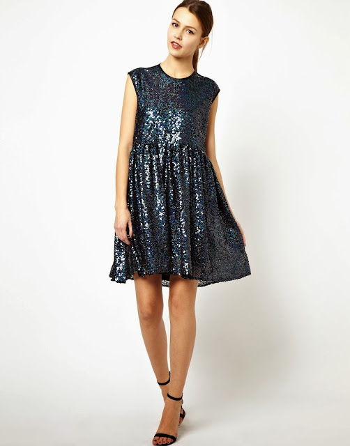 sequin loose dress