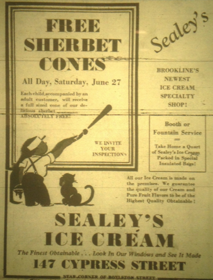 1936 Sealey's ad