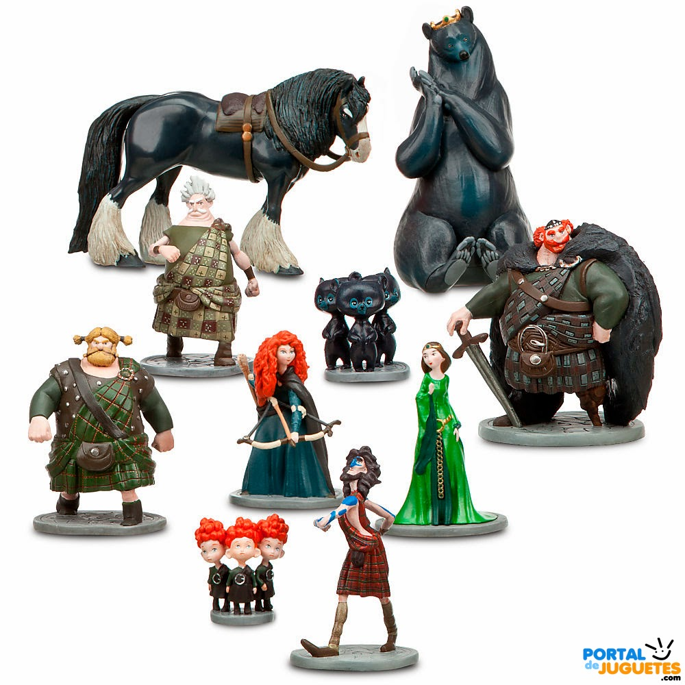 figuras brave disney store set completo