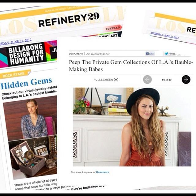 Refinery29 Feature Rossmore. Jewelry LA.