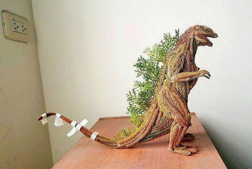 godzilla pine tree statue