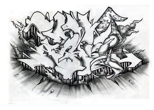 Bengawan Solo 12 Graffiti Drawings In Paper Example