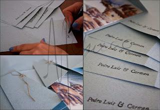 Detalles de la elaboración de las tarjetas.Mcchueco. 2013
