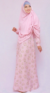 Model Gamis Batik Casual