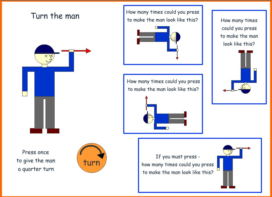 Primary Year 1 Parents: Maths - half and full turns