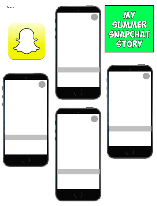 Students of History: New Back to School Snapchat Summer Story Project!