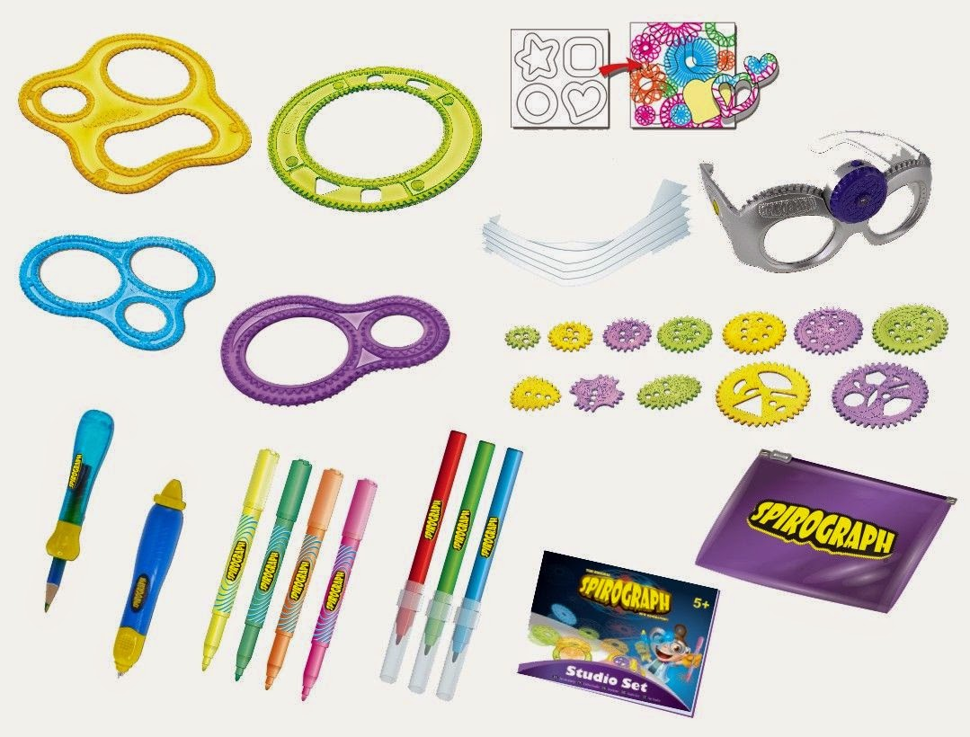 Spirograph Optical 3D Studio Set contents