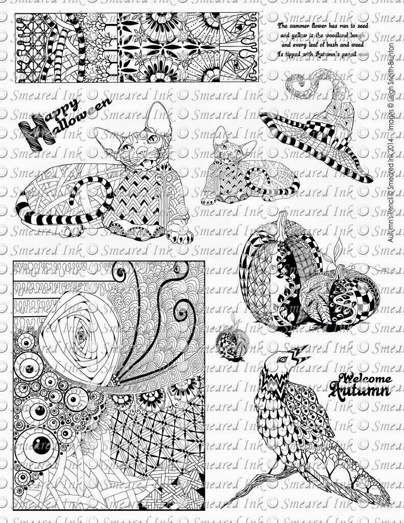 Autumn's Pencil - Rubber Stamps by Leigh Snaith-Brunton