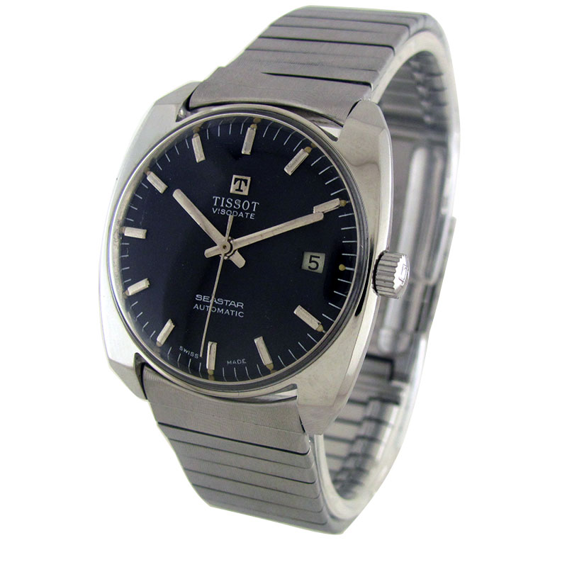 Antique watches collection by wristmenwatches tissot viso date sea star automatic watch by for Celebrity tissot watches