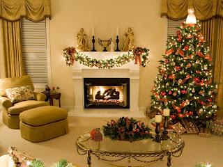 Decoração de Natal da lareira, Decoração da lareira, decoracao, decoracao casa natal