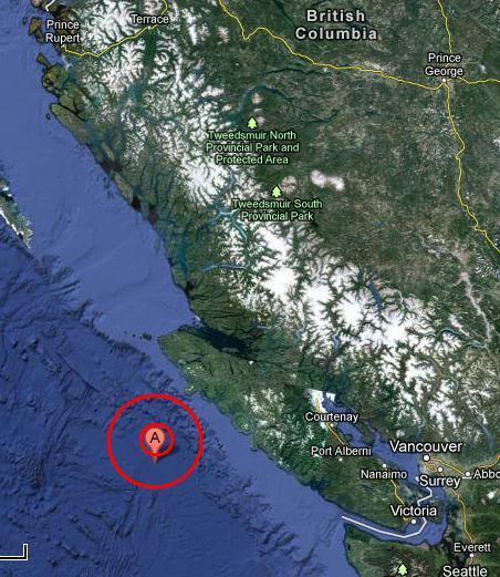VANCOUVER ISLAND, CANADA REGION earthquake 2012 November 08