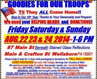 8-22/23/24 Goodies For Our Troops