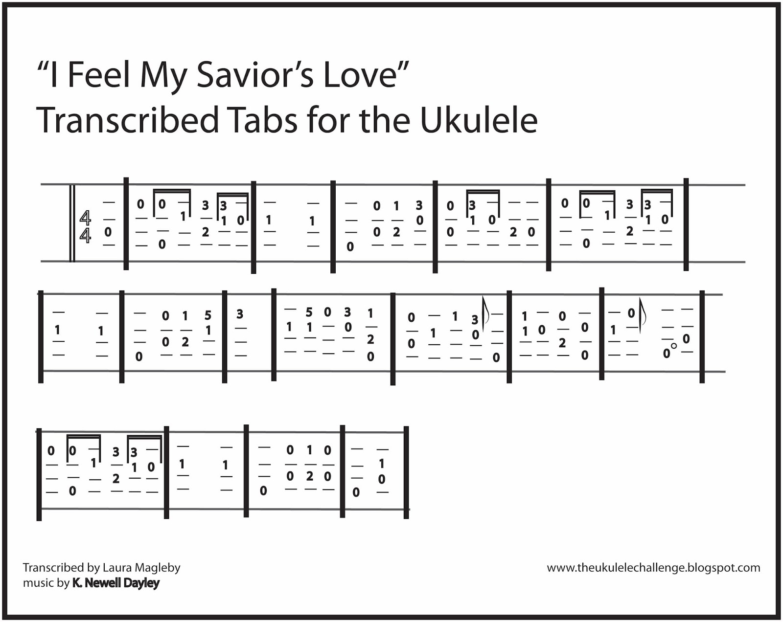 The Ukulele Challenge I Feel My Saviors Love