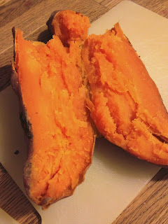 Cook a sweet potato in the microwave!