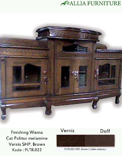 Contoh Furniture Politure SHP. Brown ( Coklat Mahony )