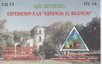 QSL Expedición a la Estancia El Silencio