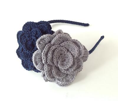 diademas hechas a crochet, haarreife gehäkelt