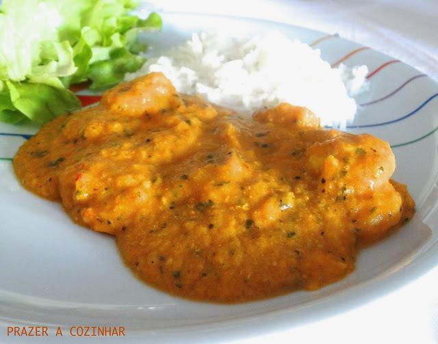prazer a cozinhar - Caril de camarões
