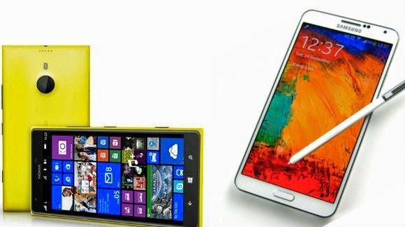 Nokia Lumia 1520 Samsung Galaxy Note 3