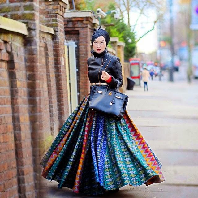 Model Rok Payung Tenun Dian Pelangi
