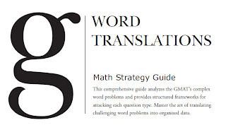 Word Translation: GMAT Math Strategy