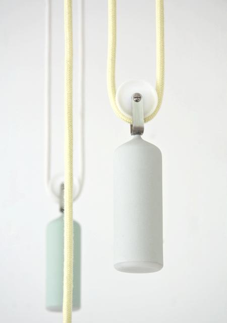 anderledes hejsesystem til loftslampen i porcelæn