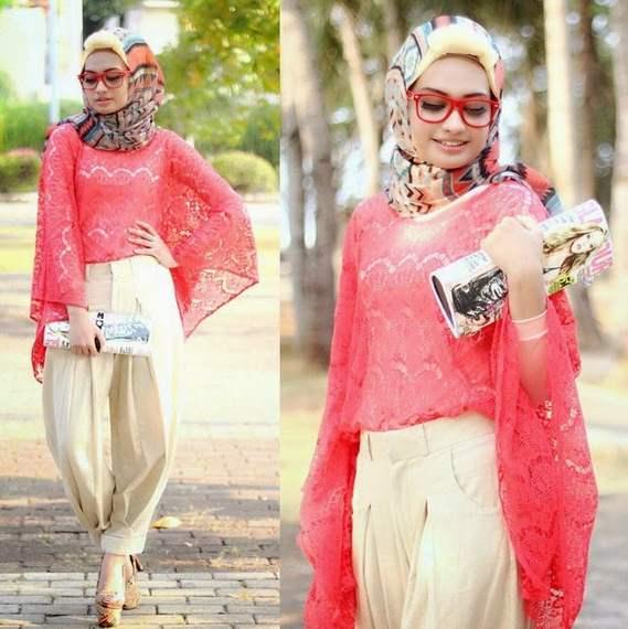 Contoh Desain Baju Atasan Muslim Wanita Modern Untuk Pesta