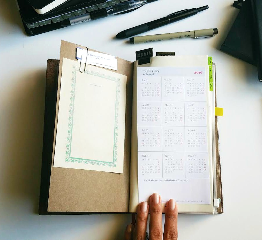 Calendar Notebook 2016 : Free printable calendar for traveler s notebook