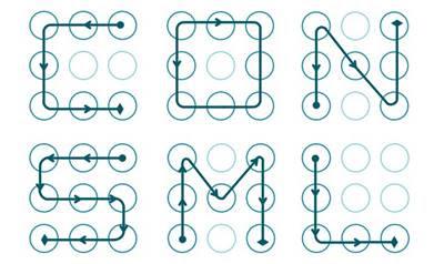 Padrões de desbloqueio de tela por desenho precisam de um mínimo de quatro pontos, e no máximo nove, e isso dá ao todo 400.000 possíveis combinações