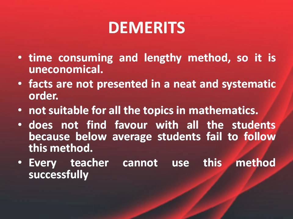 the methods of teaching mathematics to students