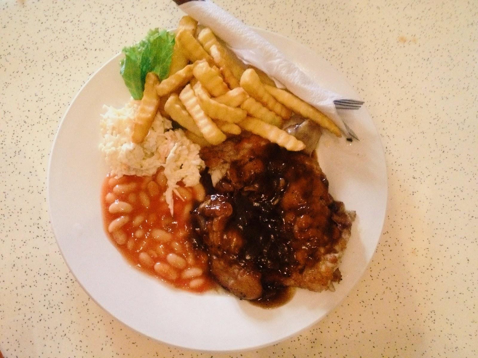 Chicken Chops ; Roost Cafe Juice+Bar @ Jalan Dhoby, Johor Bahru, Johor, Malaysia