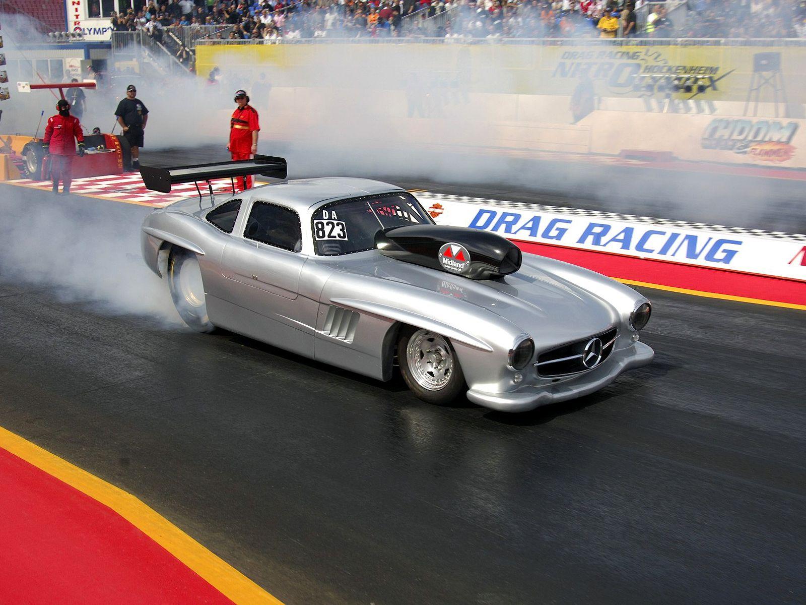 Mercedes benz 300sl gullwing drag race edition benztuning for Mercedes benz race cars