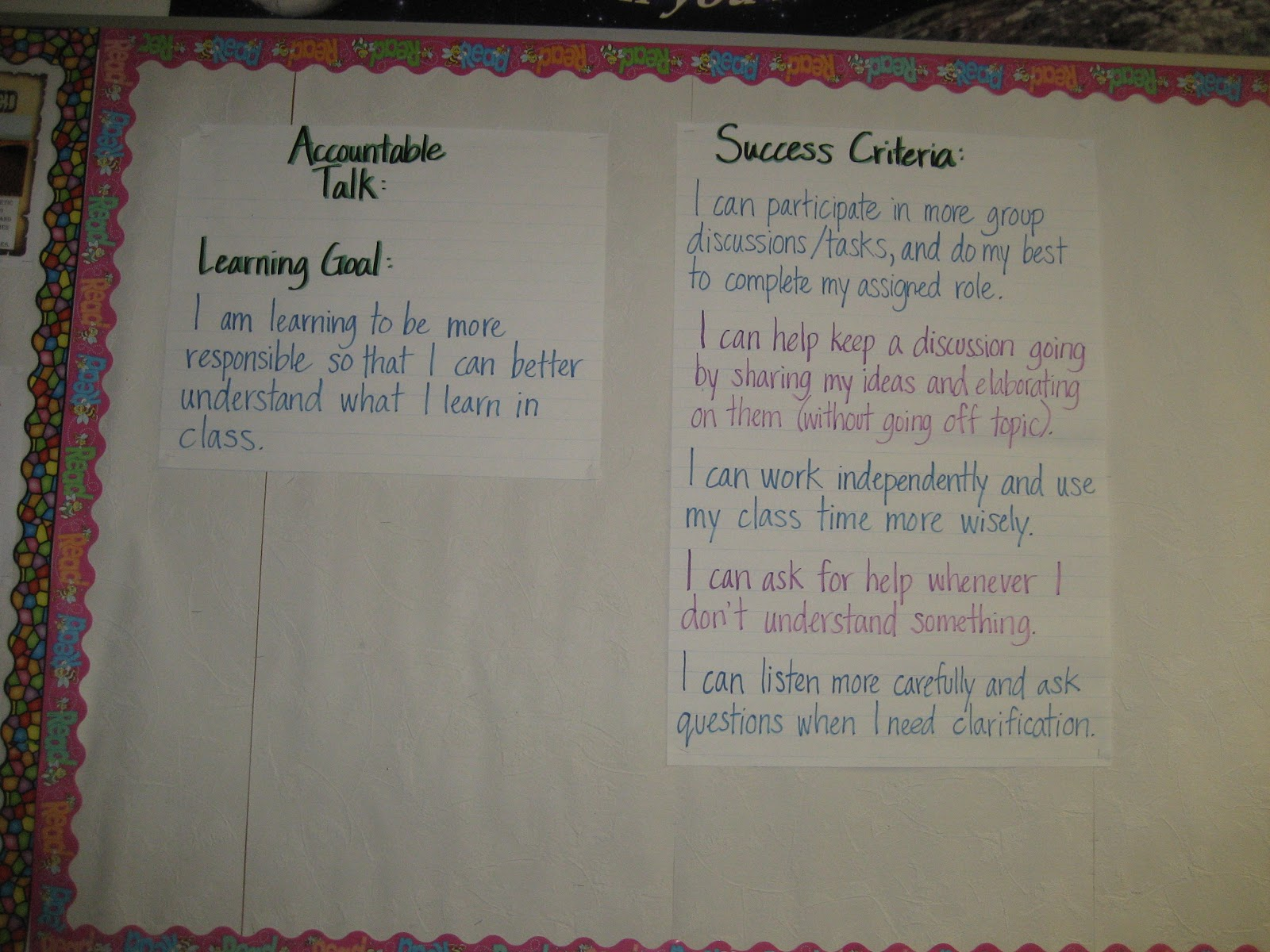 monday molly musings 2012 learning goals samples part 4