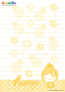Cute Hello Kitty free printable letter paper stationary