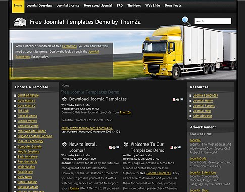 Free Joomla Logistic Transportation Company Template