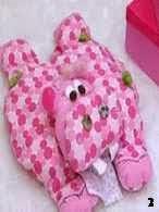 Patron hipopotamo de tela, hippo pattern cloth