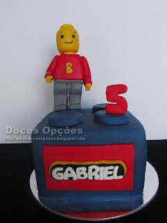 Bolo Lego para o aniversário do Gabriel