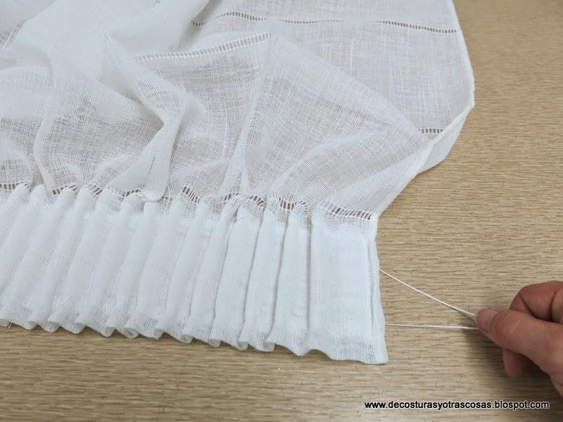 De costuras y otras cosas confeccionando cortinas 1 parte for Poner ganchos cortinas